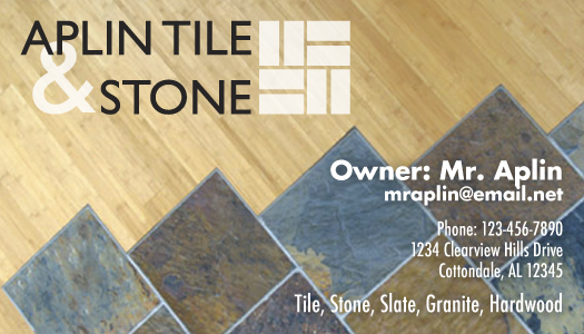 Aplin Tile Logo Business Card by Katie Whatley at Coroflotcom
