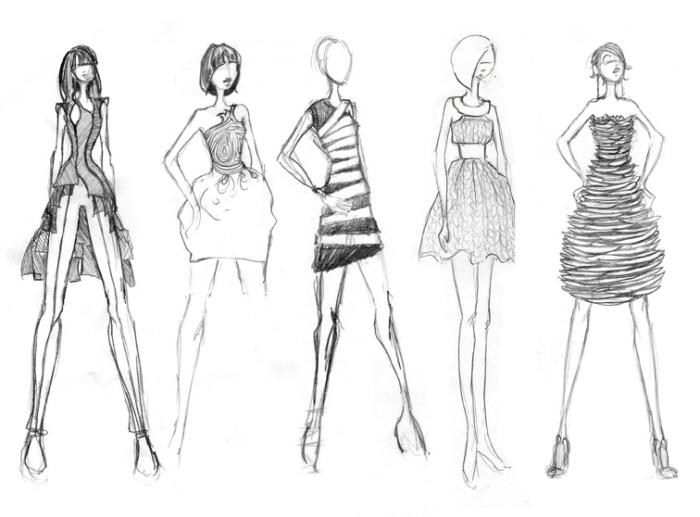 Runway Illustration Design Flats By Naomi Alessandra At