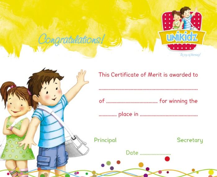 certificate of merit design