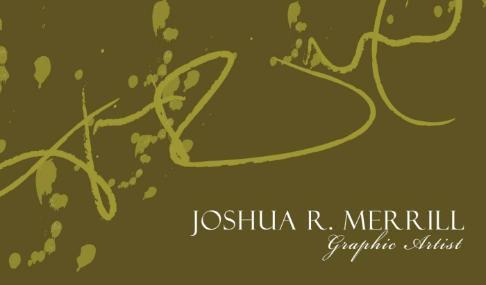 Business Cards by Joshua Merrill at Coroflot
