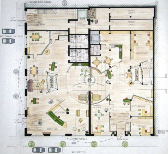 Free Mixed Use Building Floor Plan – Donkiz Real Estate