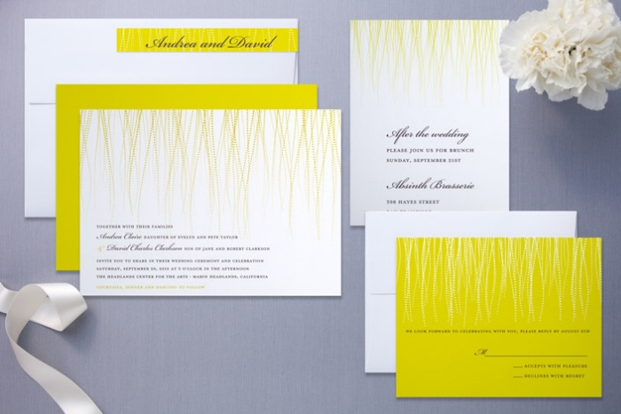Stationery and invitation design by lisa samartino at coroflot award winning gold shine wedding invitation suite stopboris Image collections
