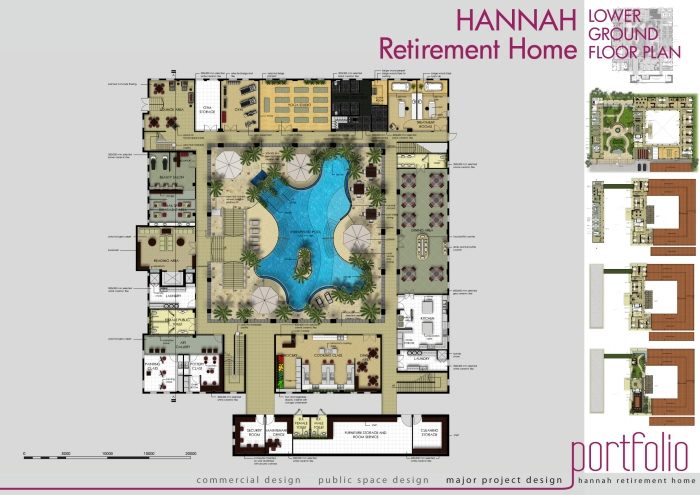Hannah retirement home by fesia prawirya at for Retirement home plans