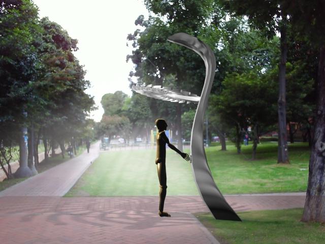 Espacio publico by gustavo huertas at for Mobiliario espacio publico
