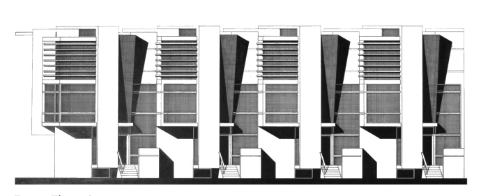 2nd year design studio 2003 2004 by peter michael mang at for Row house front elevation