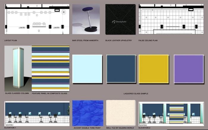 Material Board Presentation By Interior Design Consultant At