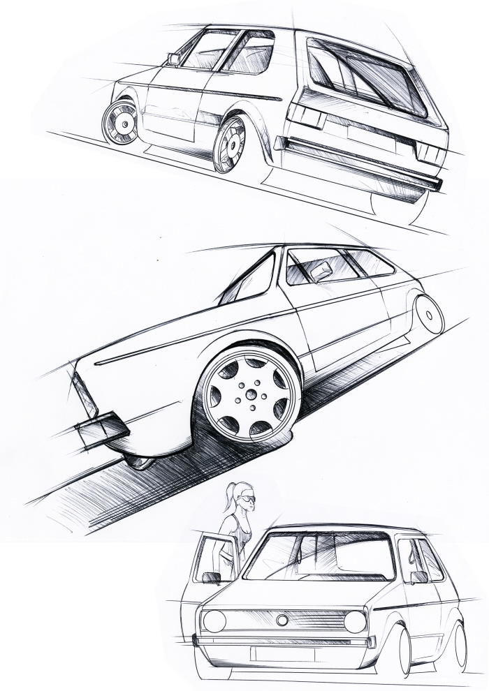 gti mk6 sketches drawings cartoons vw gti mkvi forum vw golf Black Out VW GTI about all i could find not all mk6 though