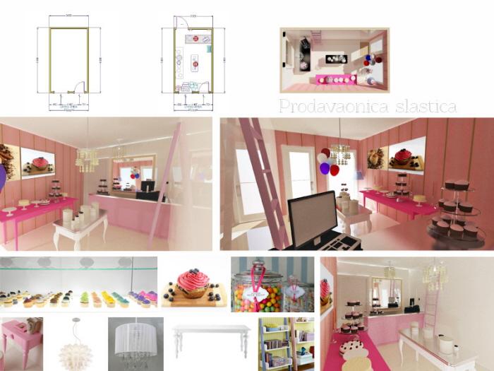 Interior Design Of Cupcake And Cake Shop By Valentina