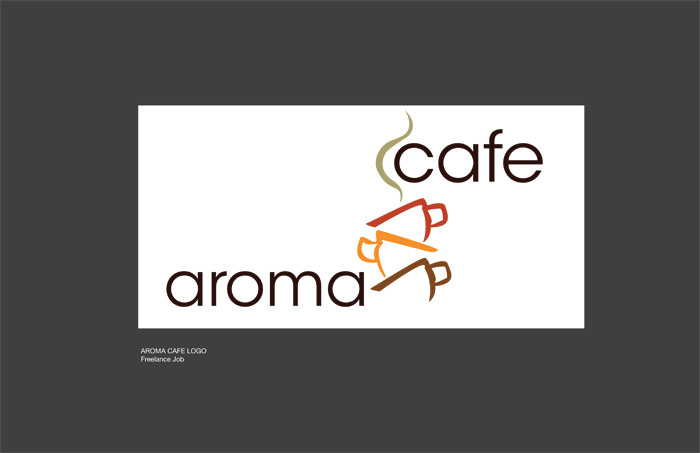 aroma cafe logo design by andrea gill at coroflotcom