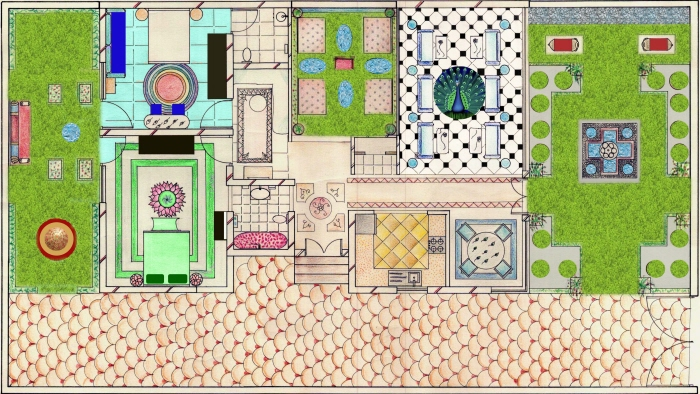 Farm house design by garima sharma at for Farmhouse design plans india
