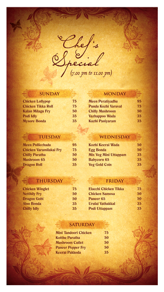 Menu Cards By Aravind Lal At Coroflot Com