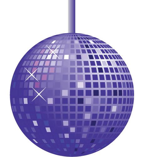 Disco Ball Cartoon   A...
