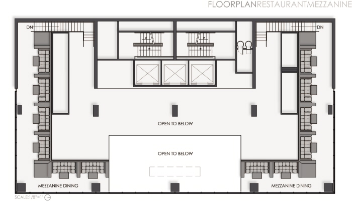 Thesis a boutique hotel by shelley quinn at for Mezzanine floor plan