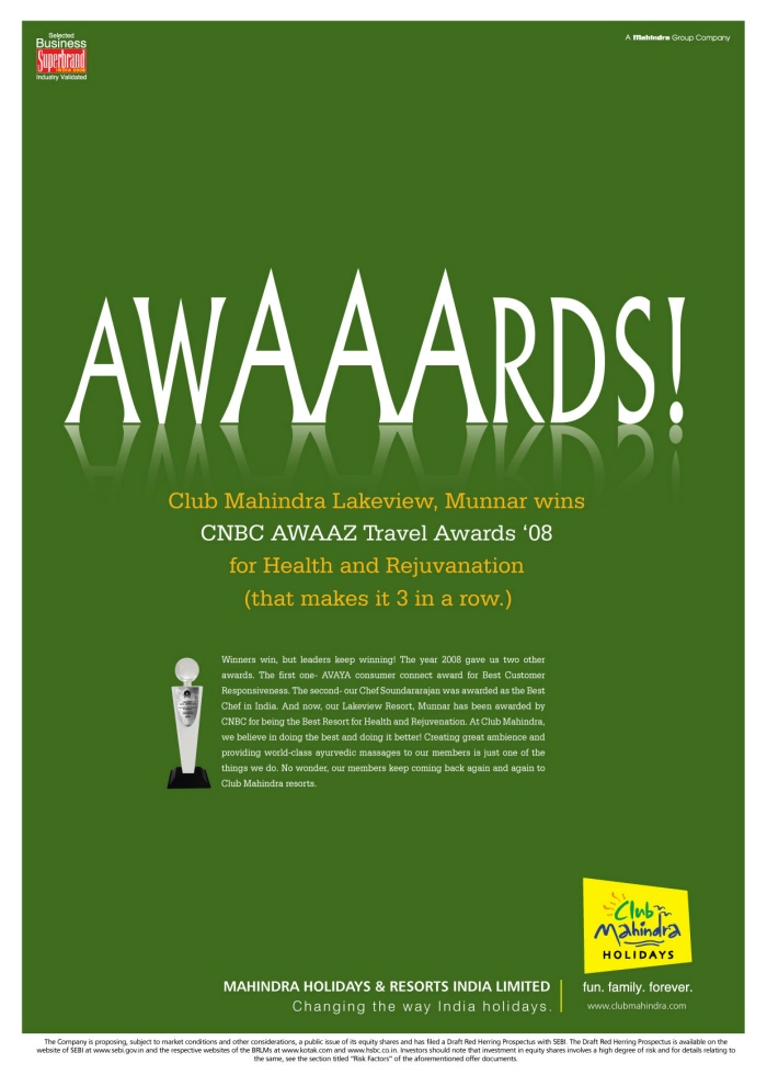 project report on brand awareness of club mahindra holidays Mahindra holidays mahindra holidays &&&& resorts india ltdresorts india the company's flagship brand 'club mahindra holidays' mhril csr policy.