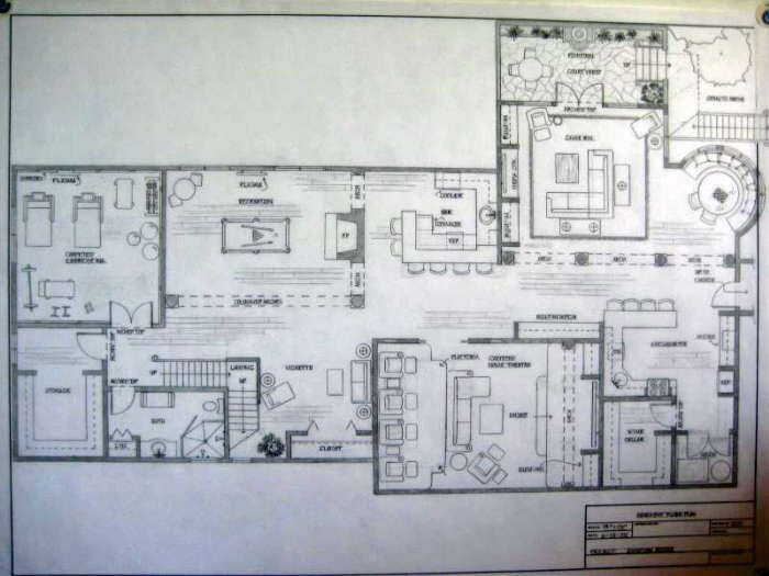 basement level floor plan spanish colonial residence by greta g