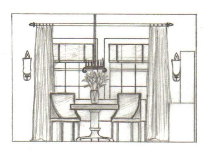 School projects by greta g asuncion at for Dining room elevation