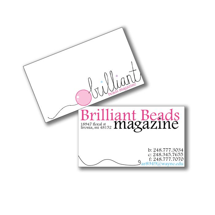 Brilliant Beads Magazine by Jennifer Quinn at Coroflot.com
