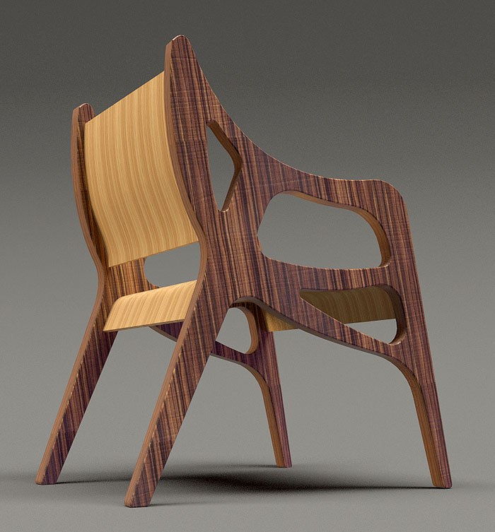 CNC router cut chair
