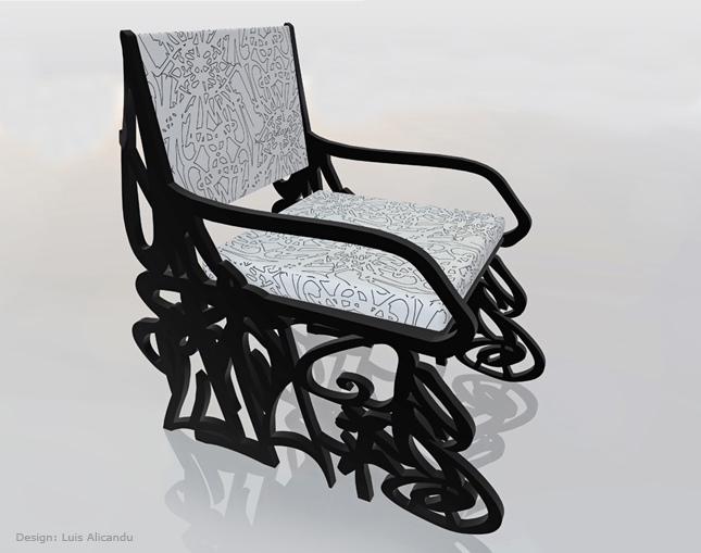Luis Alicandu - London, United Kingdom - Graffiti Chair :  chair interior design modern design designer