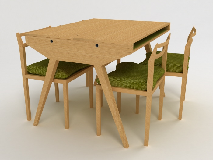 Will Dining Table Desk By Lisa Sandall At