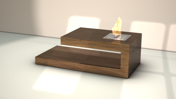 fire coffee table by axel schaefer at. Black Bedroom Furniture Sets. Home Design Ideas