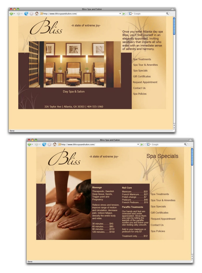 Bliss Spa Salon Package By Karen Black At