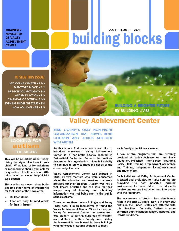 sample of school newsletters