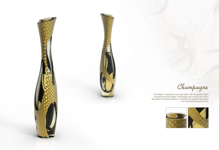 personalities reflected perfume bottle design by di wu at