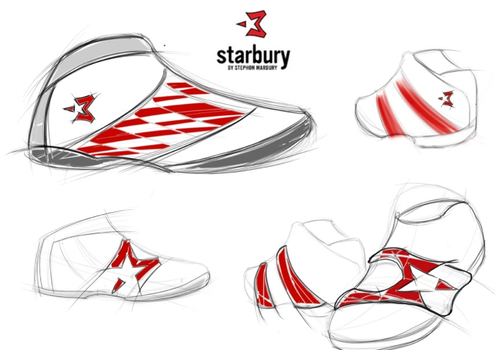starbury shoes sketches