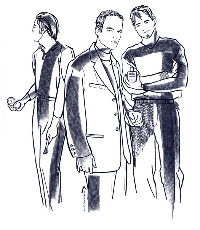 vintage fashion illustrations men