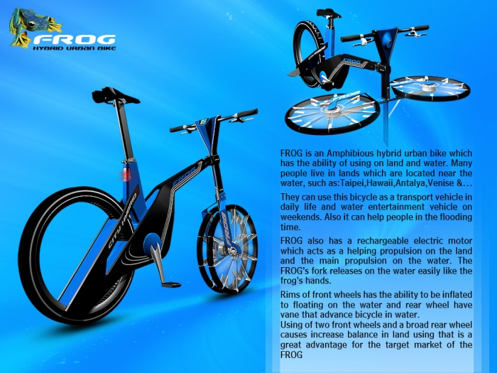 Frog Amphibious Urban Bike By Mahdi Momeni At