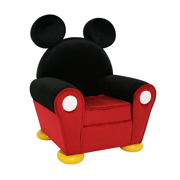 Mickey Mouse Leather Chair From Disney World S Toon Town Used For To Sit In During Autograph Signings On It