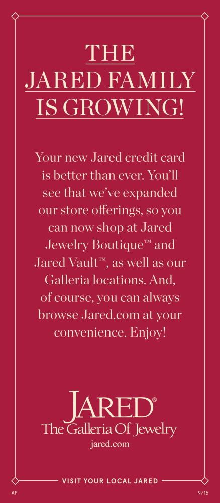 Jared Credit Card Buck Slip by Brandi Boykin at Coroflotcom