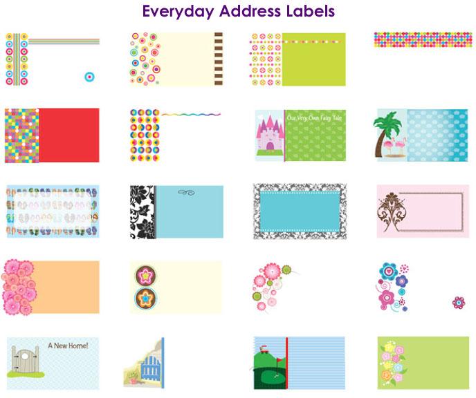 Return address label designs by barbara boutin at coroflotcom for Design return address labels free