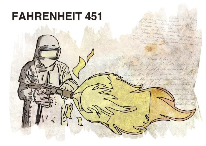 the setting of fahrenheit 451 Aunque en la presente obra fahrenheit 451 se presenta un mundo alternativo donde la masificación de los medios y el control absoluto ha desembocado en la renuncia.
