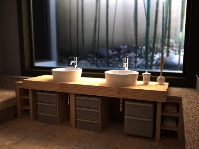 bagno in stile giapponese by anna ovchinnikova at