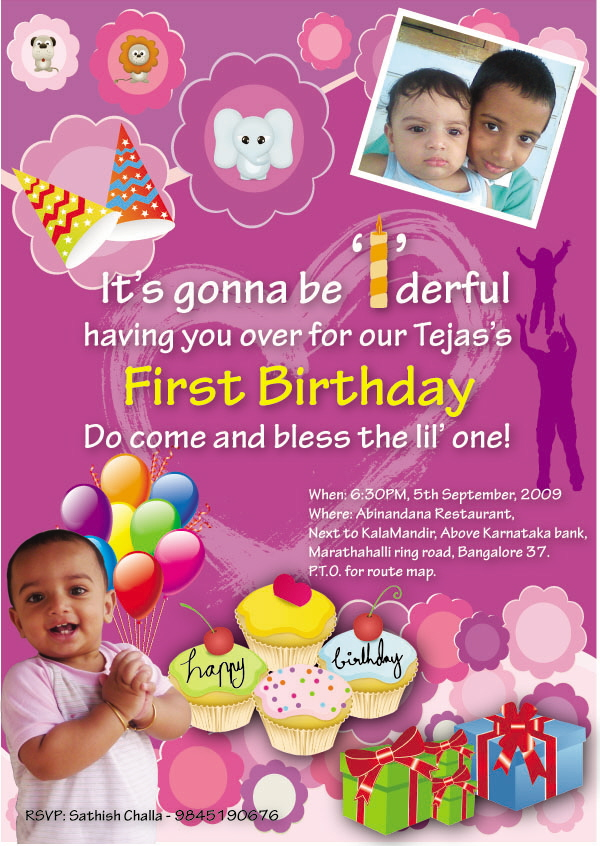 Invitation By Bhanu Shankar At Coroflotcom - 1st birthday invitation indian card