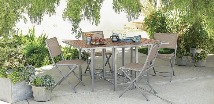 Tar Threshold faux wood patio furniture by Katie Wittenberg at Coroflot