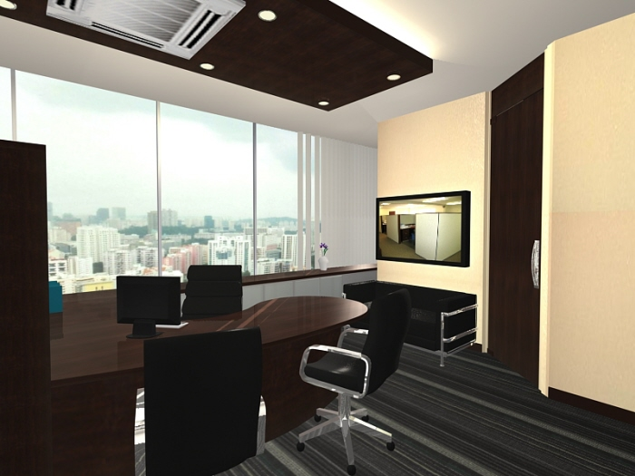 Projects at communication design international by yow jia for Director office room design