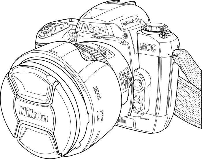 Нарисовать фотоаппарат поэтапно 5