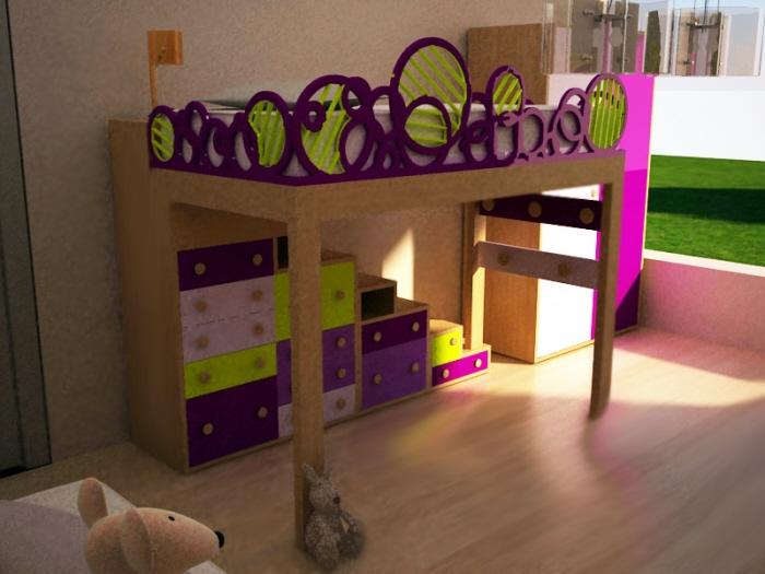 Industrial design by florencia gambartes at - Escaleras para camas altas ...