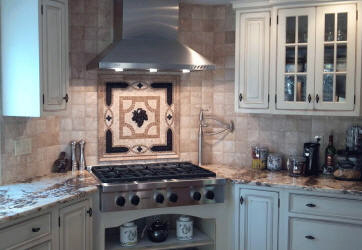 Backsplash Kitchen Ideas on From Linda Paul Studio   Kitchen Backsplash Vienna Grape In The Center