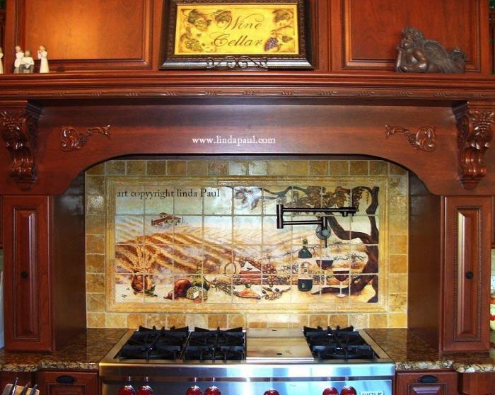 Kitchen Backsplash Tile Murals by Linda Paul Studio by Linda Paul at ...