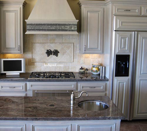 mosaic tile medallions and kitchen backsplash ideas by