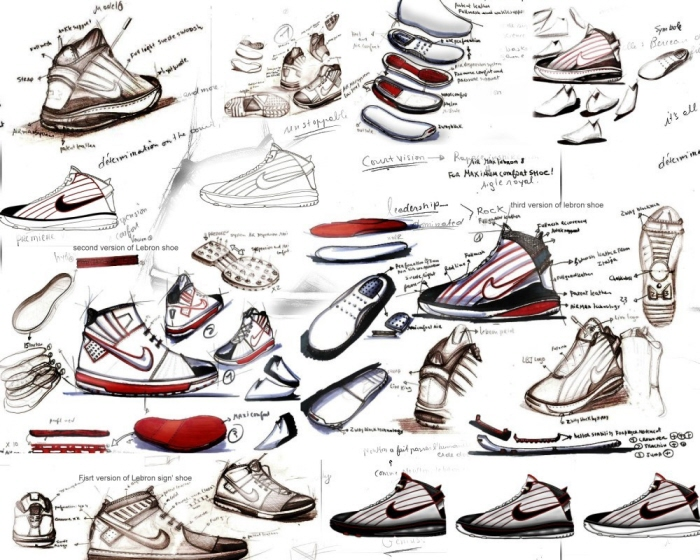 Low Top Shoes Drawing Reference