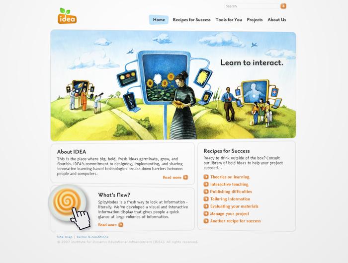 IDEA Web Site by Ovidiu Ancuta at Coroflot.com