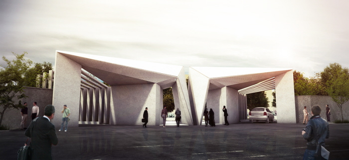 Home Design Gate Ideas: Entry Gate Of Khayyam University By Farzan Shamasblou At
