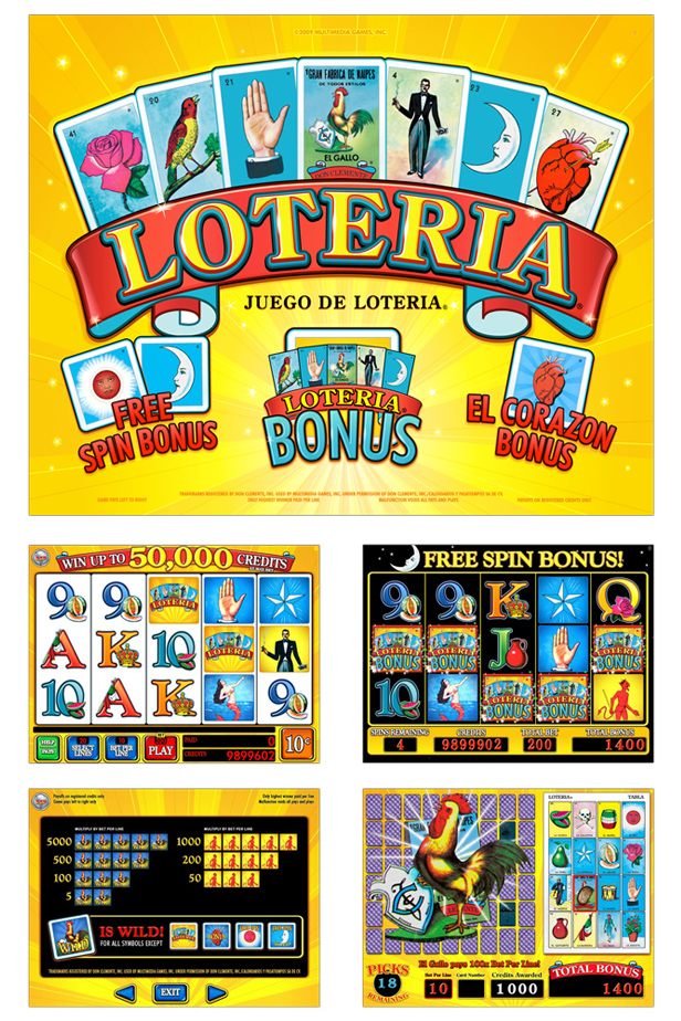 Mexican loteria slot machine