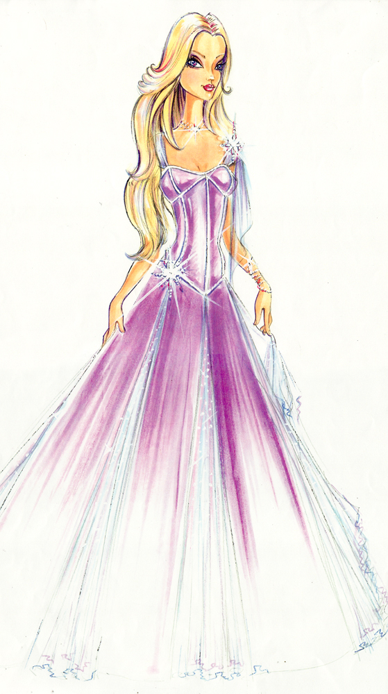 Barbie A Fashion Fairytale Dresses Sketches The gallery for -->...