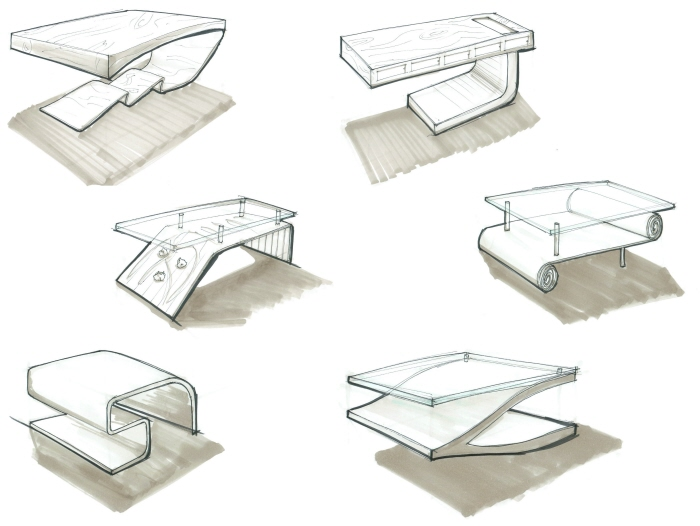 Furniture Design Sketch : ... is a modern furniture piece designed around things that i love modern